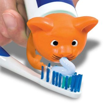 Distributeur original de dentifrice chat