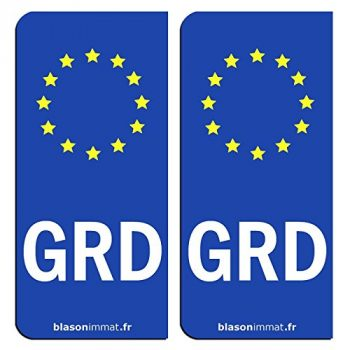 Stickers d'immatriculation Groland GRD