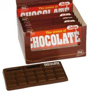 Chocolatrice, calculatrice en forme de tablette de chocolat
