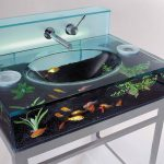 Evier aquarium de salle de bain