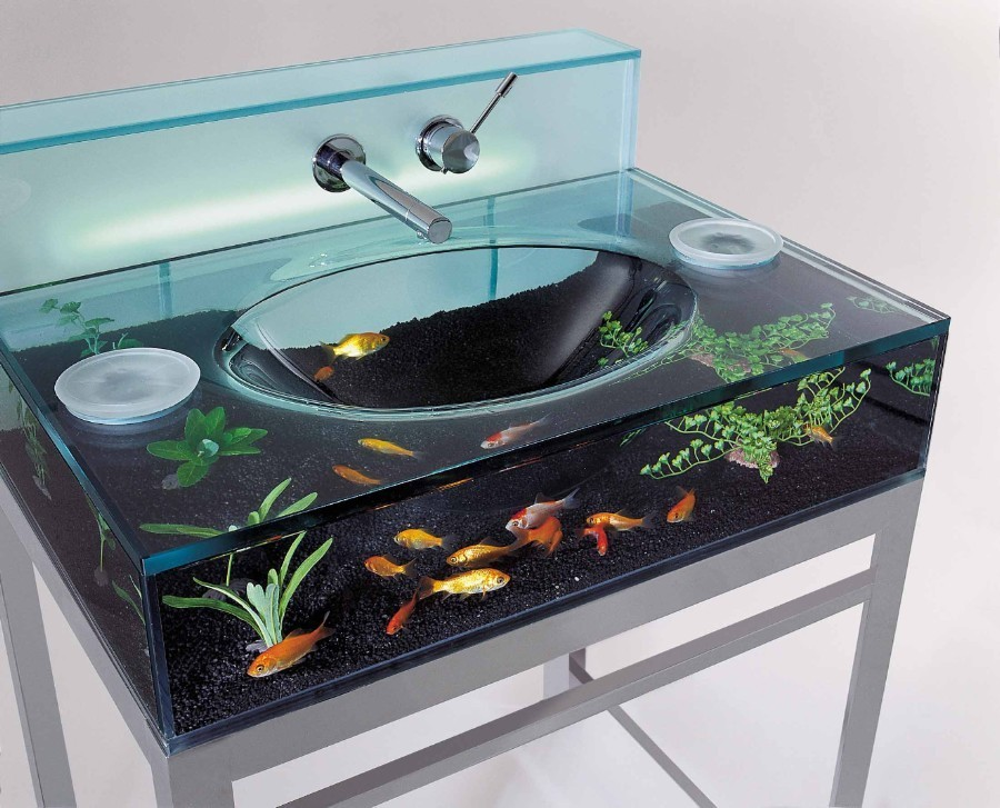 Table basse aquarium - Objet maison insolite - Mr. Etrange