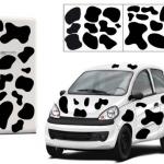 Stickers muraux vache avec tâches noires