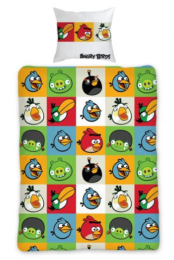 Housse de couette geek Angry Birds