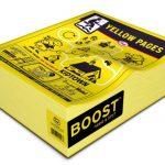 Réhausseur pour enfant en forme d'annuaire Pages jaunes