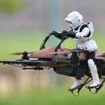 Drones Star Wars : Speeder Bike, Faucon Millenium et TIE Interceptor