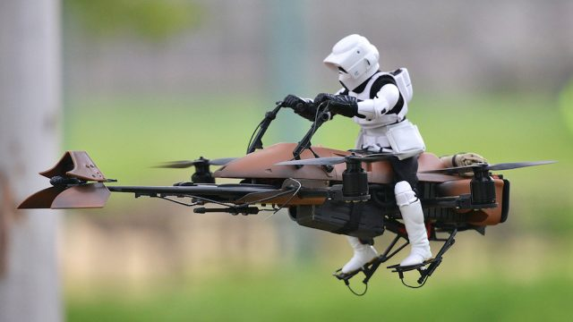 Drone speeder bike Star Wars