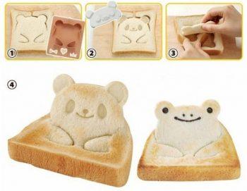 Moule panda et grenouille pour grille-pain