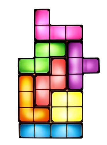 lampe jeu vidéo Tetris original et insolite