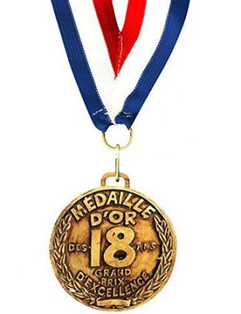 médaille d'or majorité originale