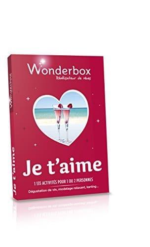 Cadeau insolite et original Wonderbox Je t'aime Saint Valentin