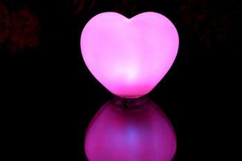 Lampe à LED original en forme de coeur pour la Saint Valentin