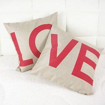 Taies de coussins originales pour la Saint Valentin