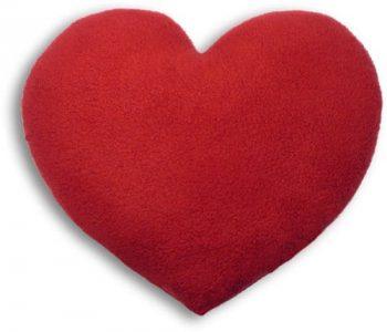 Coussin chauffant coeur insolite pour la Saint Valentin