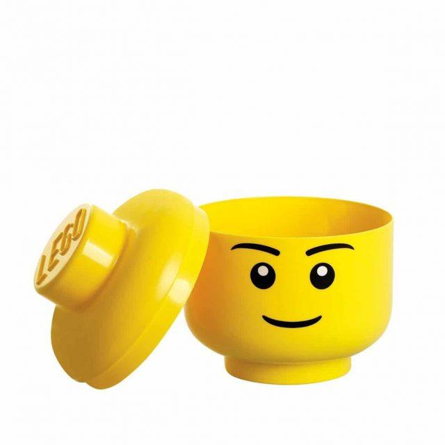 Coffre de rangement insolite tête de Lego