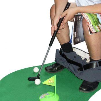 Jeu de mini golf original pour les toilettes
