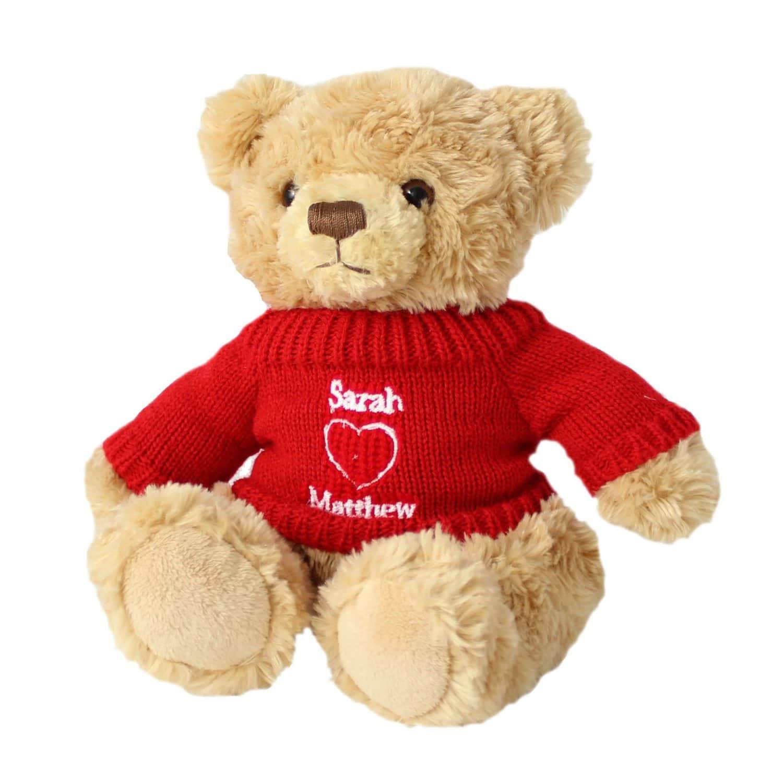 Ours personnalisé en peluche cadeau insolite pour la Saint-Valentin