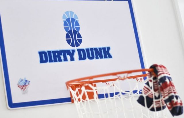 Panière à linge en forme de panier de basket