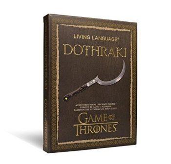 Livre insolite apprendre le Dothraki