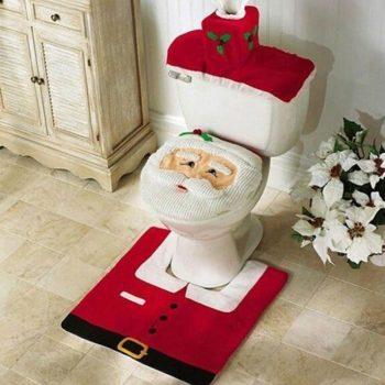 Décoration Père Noël pour WC
