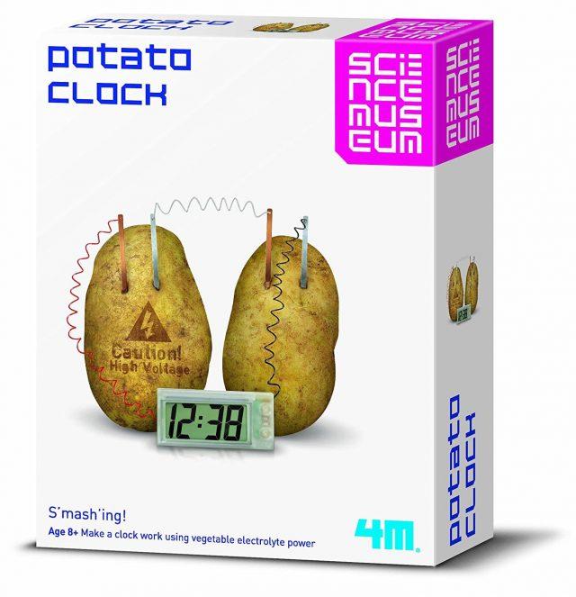 Horloge insolite pomme de terre