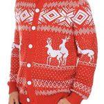 Pull de Noël original avec deux rennes