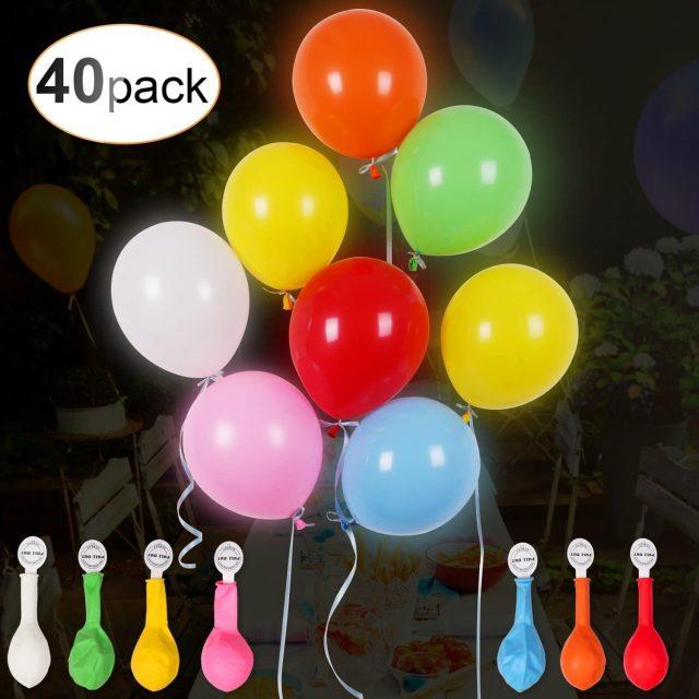 Ballons lumineux à LED insolite