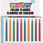 Bougies flammes colorées