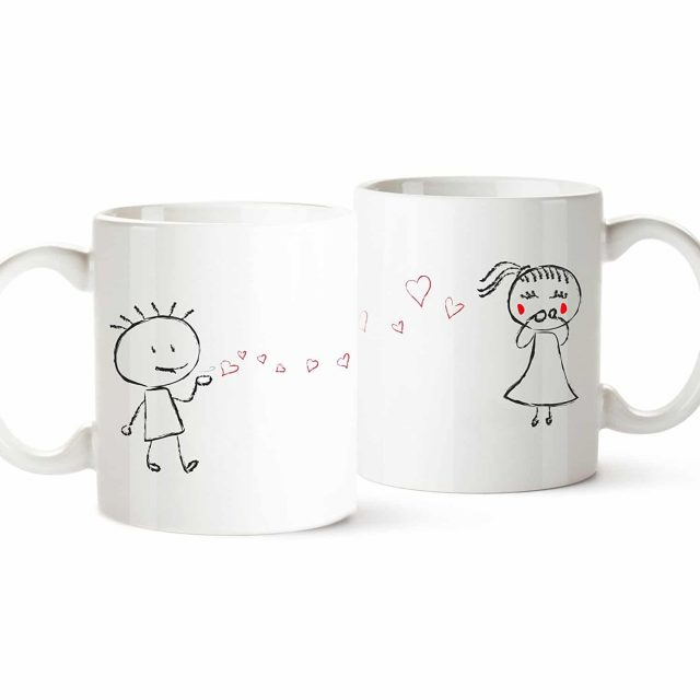 Mugs couple amoureux Saint Valentin insolite