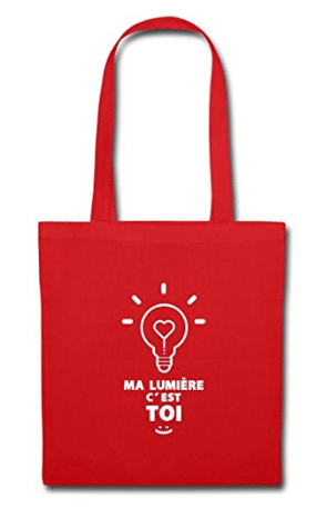 Tote bag avec message d'amour original saint valentin