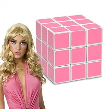 Casse-tête rose pour blonde insolite