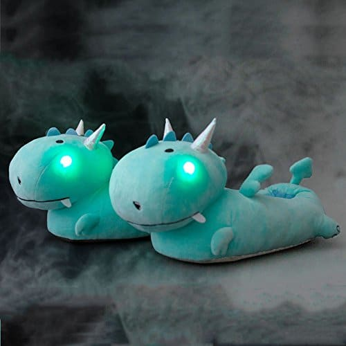 Chaussons insolites dragons lumineux