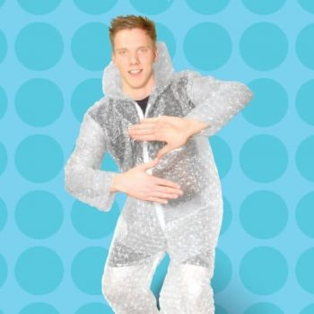 Costume papier bulle insolite