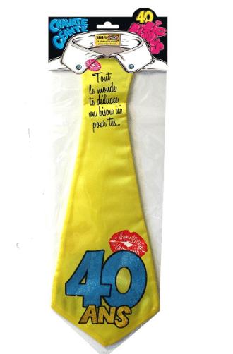 Cravate insolite anniversaire