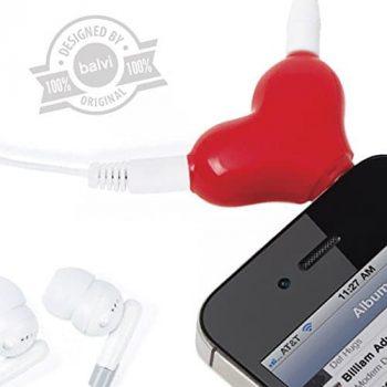 Diviseur d'écouteurs coeur saint valentin insolite