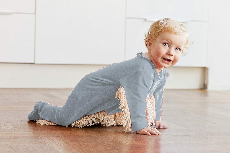 Grenouillère serpillière Babymop insolite