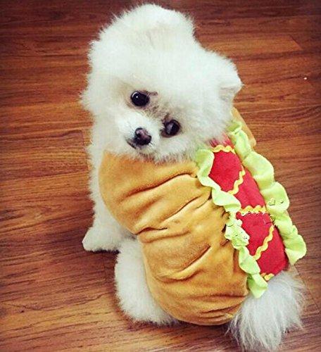 Manteau insolite hot dog pour chien et chat