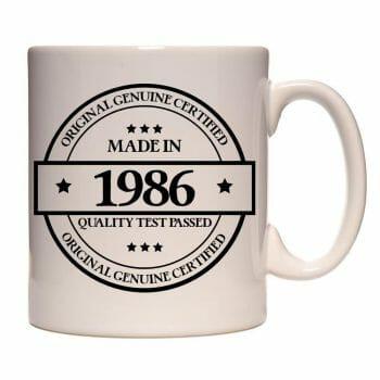 Mug anniversaire année de naissance original