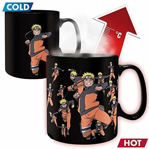 mug thermo r actif naruto objet geek mr etrange. Black Bedroom Furniture Sets. Home Design Ideas