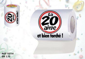 Rouleau de papier toilette insolite pour anniversaire