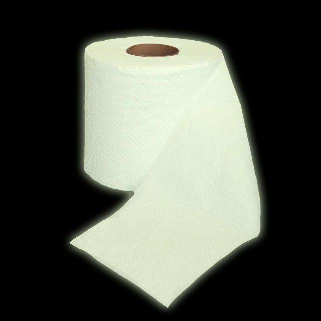 Rouleau de papier toilette insolite fluorescent