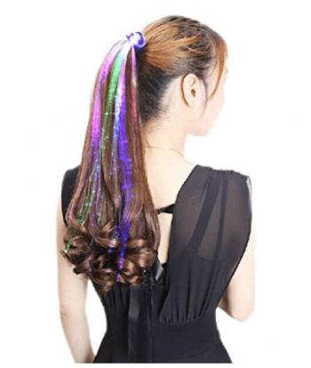 Extensions de cheveux à LED insolite