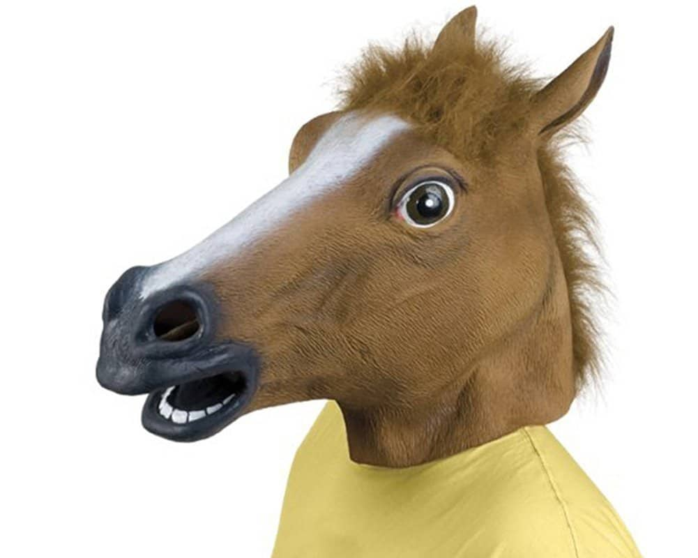 Masque tête de cheval insolite