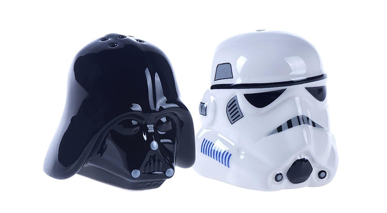 Salière Stormtrooper et poivrière Dark Vador insolite