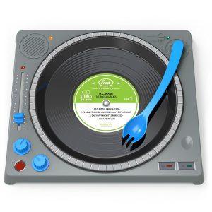 Assiette DJ pour enfants insolite
