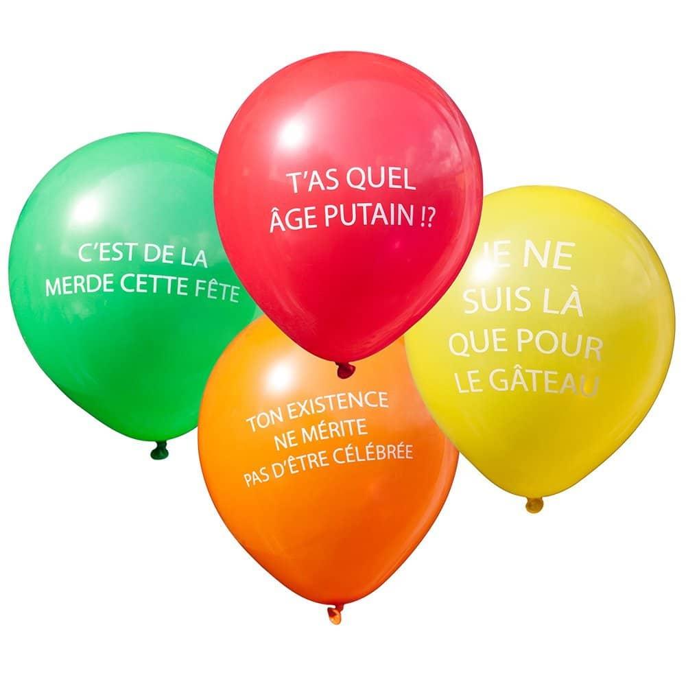 Ballon anniversaire insolite