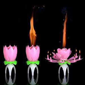 Fleur bougie d'anniversaire insolite