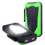 Batterie externe rechargeable solaire et antichoc