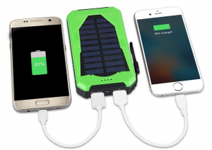 Chargeur solaire antichoc double sorties USB