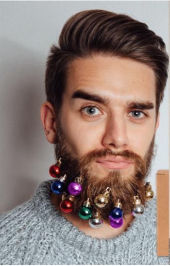Décorations de Noël pour barbes original