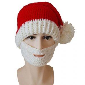 Bonnet de Noël avec barbe insolite